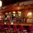 The impressive cherrywood bar at The Irma Hotel in Cody, WY was a gift from Queen Victoria to Buffalo Bill. Also a backdrop for a scene in The Moonglow Cafe